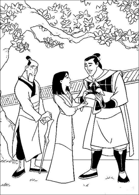Mulan Coloring Pages