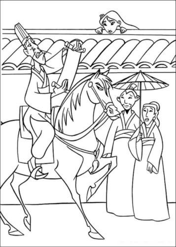 Mulan Coloring Pictures To Print