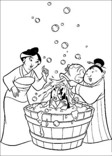 Mulan Taking A Bath