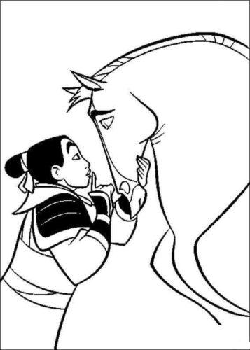 Mulan Talking To Her Horse