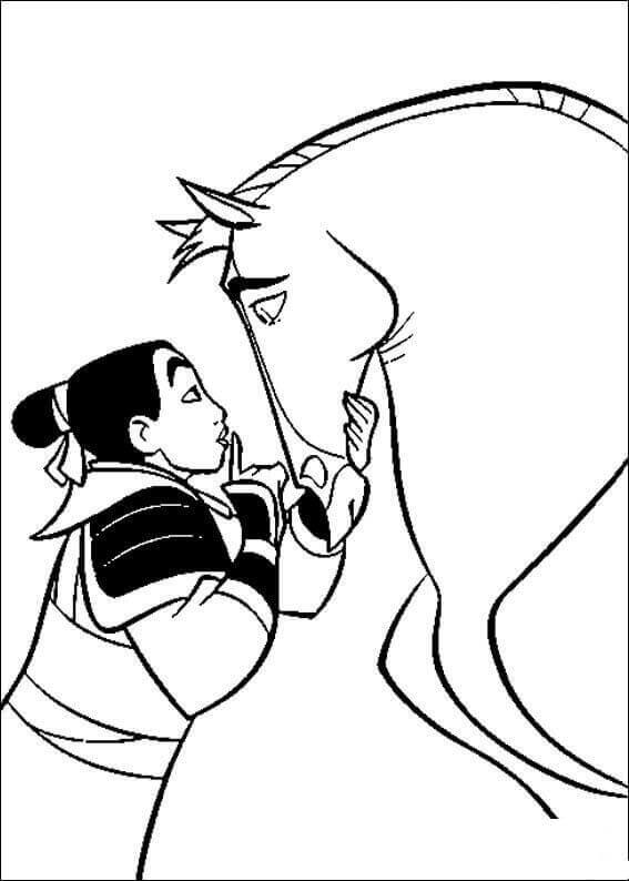 Mulan Talking To Her Horse