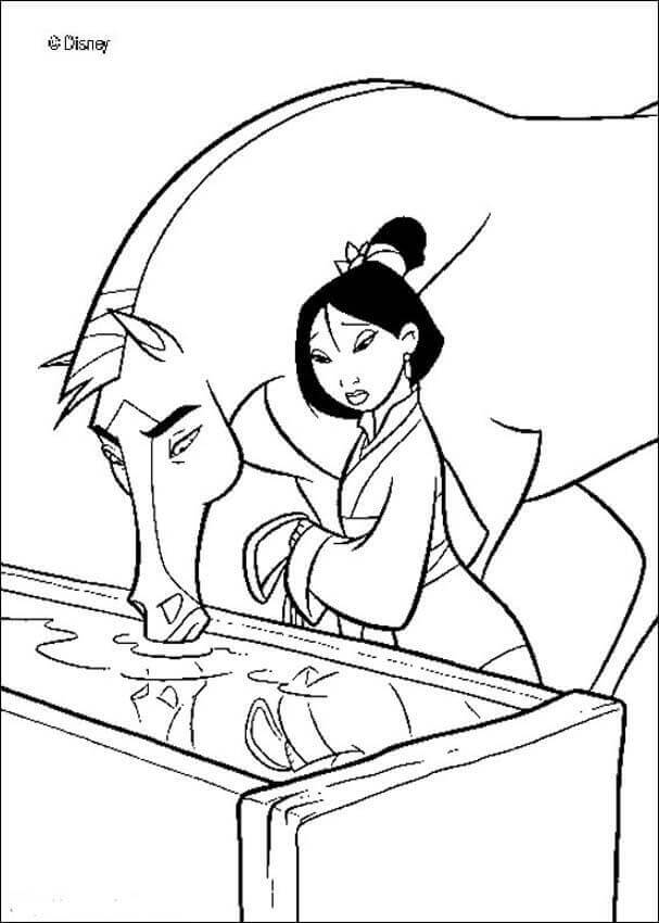 Mulan With Her Horse Khan