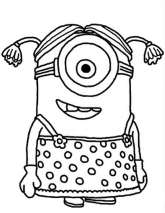 Stuart Minion Dressed As A Girl
