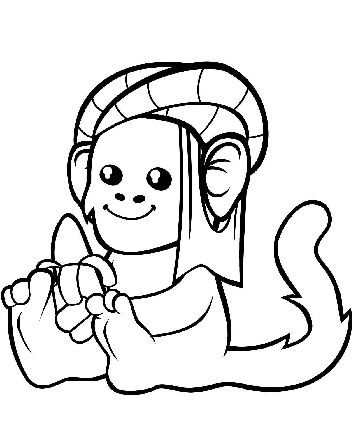 Monkey Enjoying His Banana