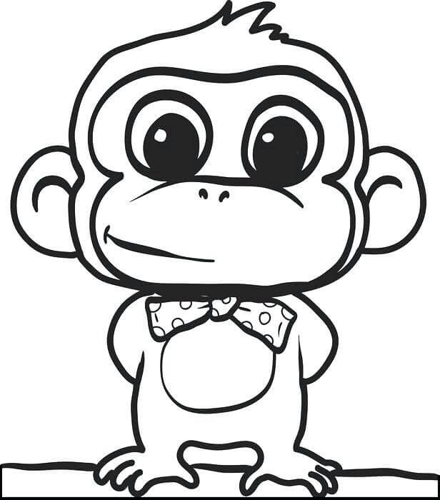 Monkey Wearing A Bow Tie