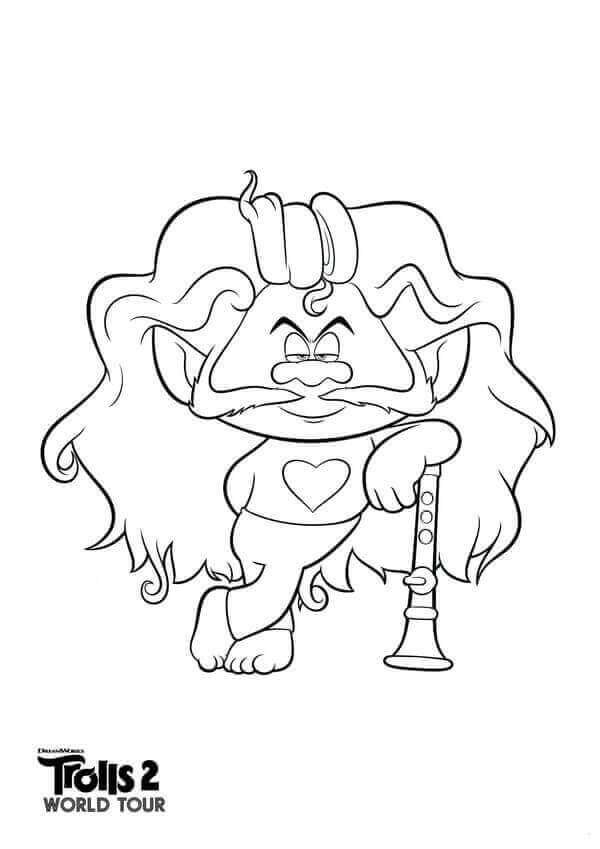 Chaz Trolls 2 Coloring Page