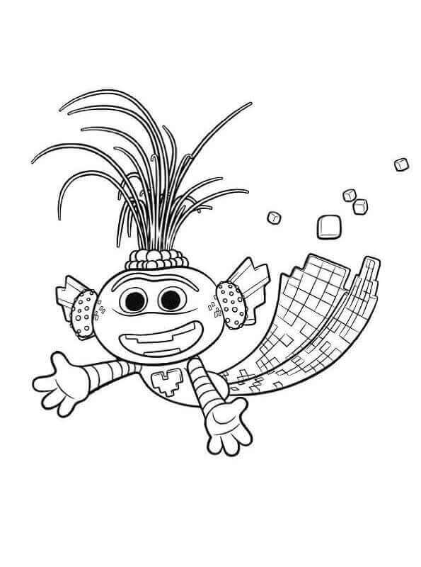 King Trollex Coloring Page