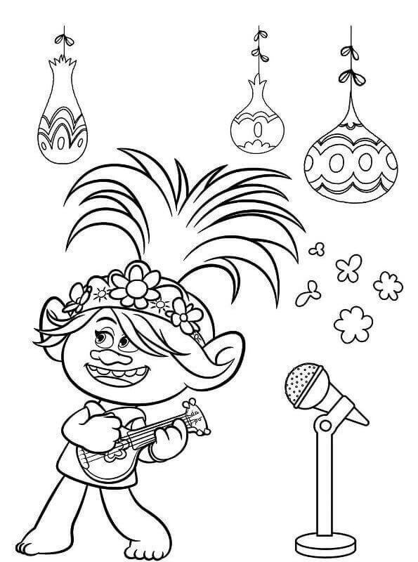Queen Poppy From Trolls World Tour Coloring Page