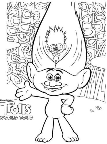 Trolls 2 Coloring Pages Guy Diamond and Tiny Diamond