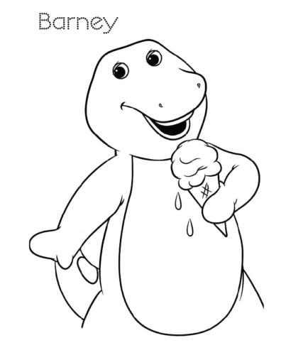 Barney Having An Ice Cream