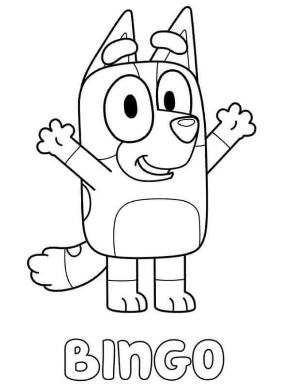 Bingo From Bluey Coloring Picture