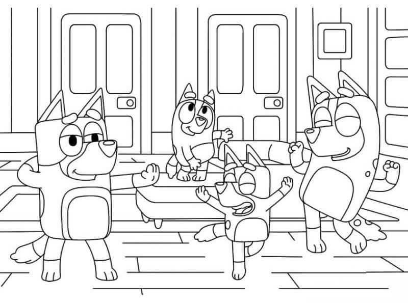 Bluey Coloring Pages
