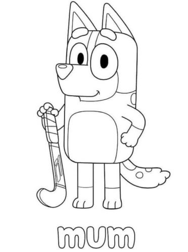 Bluey Mum Coloring Page