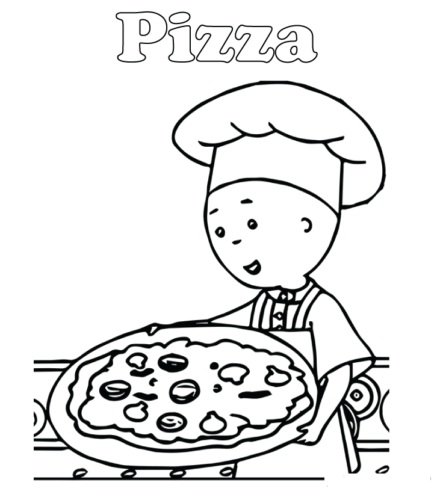 Caillou Making Pizza