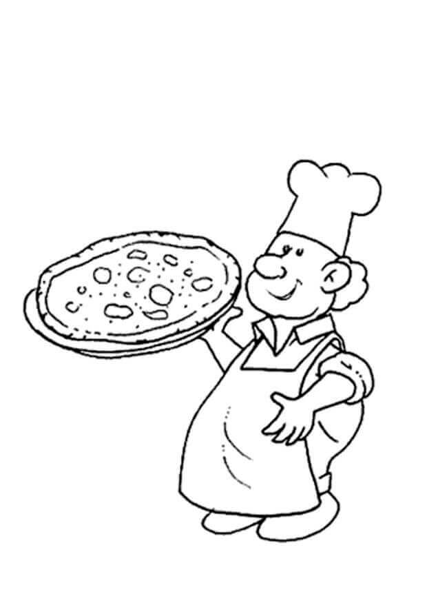 Chef With The Pizza