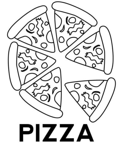Free Printable Pizza Coloring Page