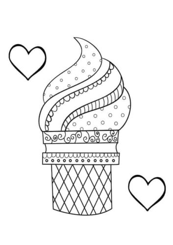 Ice Cream Coloring Page For Teens