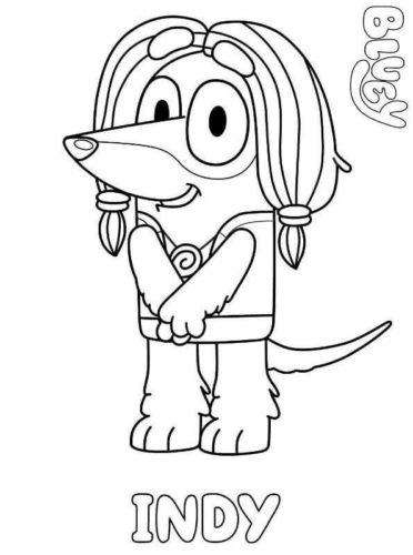 Indy Coloring Page