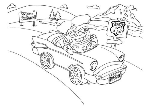 Pizza Steve Coloring Page