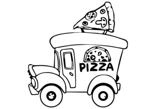 Pizza Truck Coloring Page