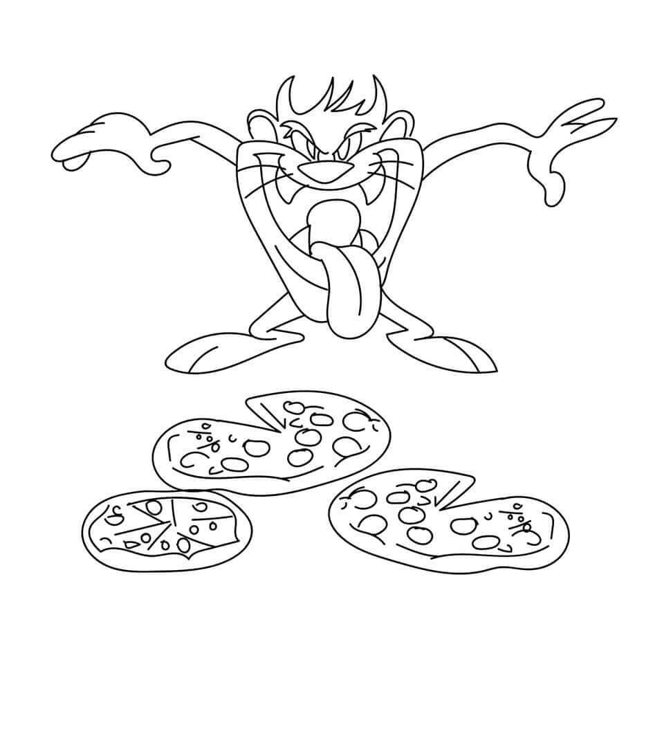 Tasmanian Devil All Set To Attack A Pizza