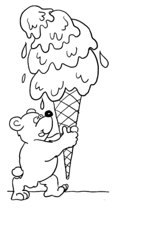 Teddy Bear With A Huge Ice Cream
