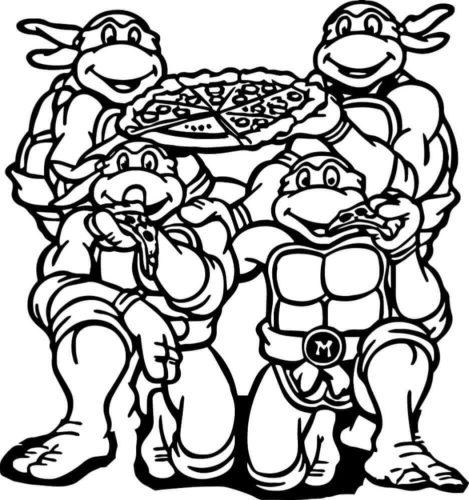 Teenage Mutant Ninja Turtles Having Their Favorite Food