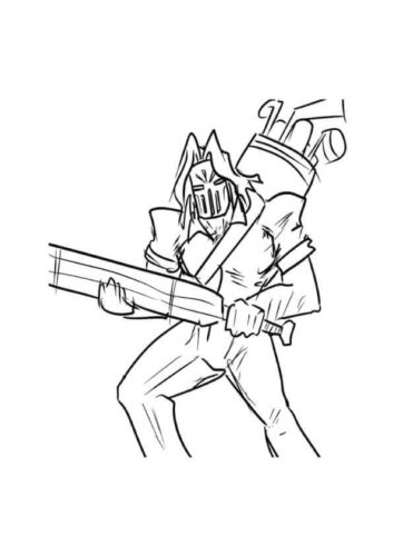 Casey Jones From TMNT Coloring Page