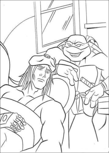 Casey Jones and Michelangelo