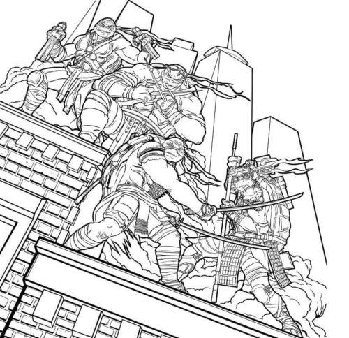 Free Printable Teenage Mutant Ninja Turtles Coloring Pages