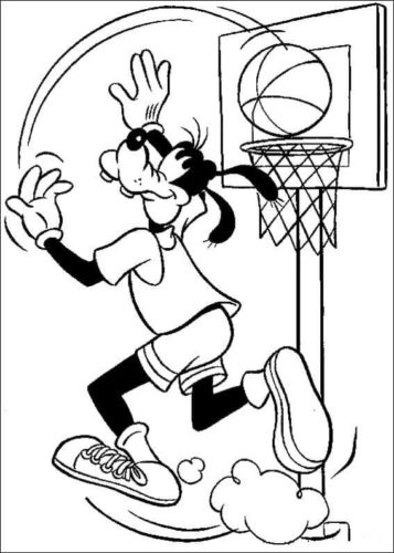 Goofy Playing Basketball