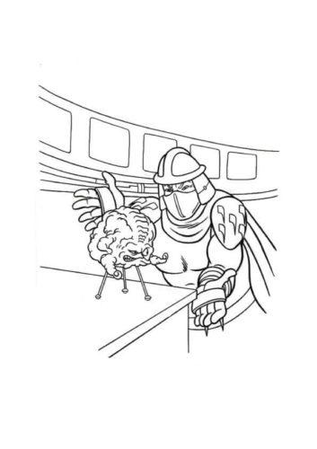 Kraang And Shredder Coloring Page