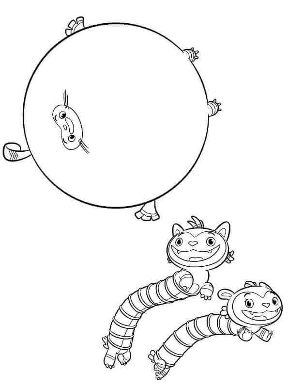 Mo Bo And Teeny Terry From Abby Hatcher Coloring Page