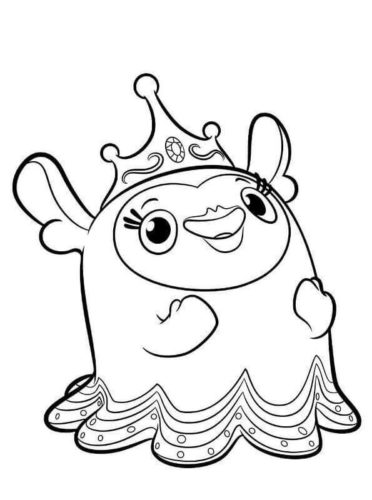 Princess Flug from Abby Hatcher coloring page