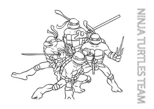 Teenage Mutant Ninja Turtles Coloring Pages Printable