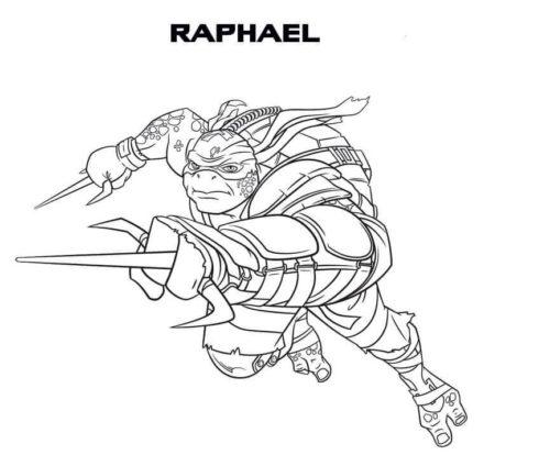 Teenage Mutant Ninja Turtles Raphael Coloring Page