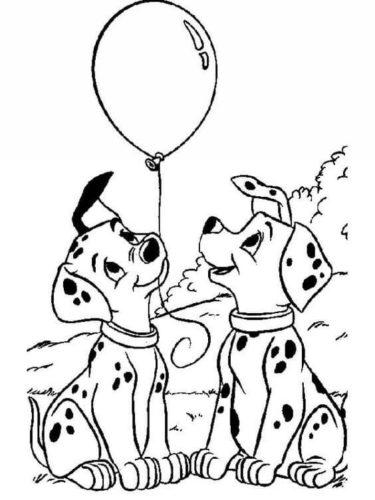 101 Dalmations Coloring Page