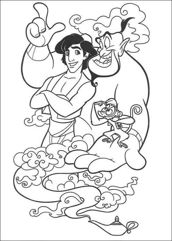 Aladdin coloring page