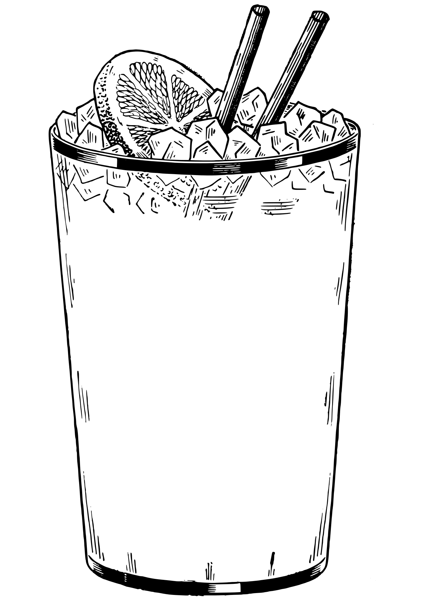 Cold Drink coloring page