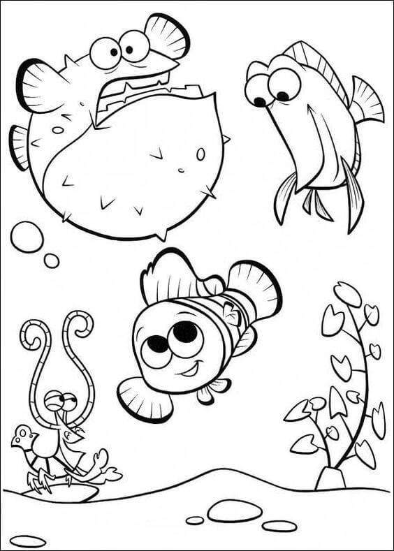 Finding Nemo coloring page