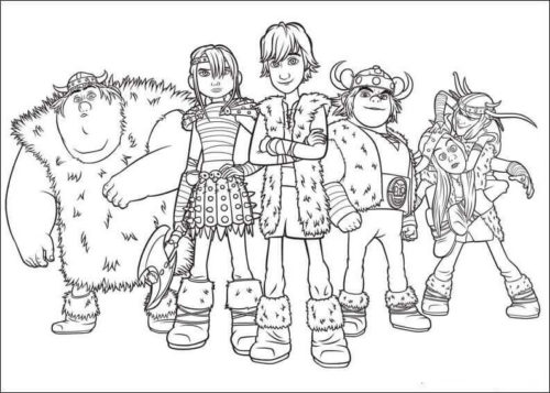 Free Printable How To Train Your Dragon coloring pages
