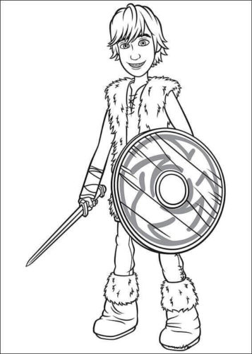 Hiccup Haddock III coloring page