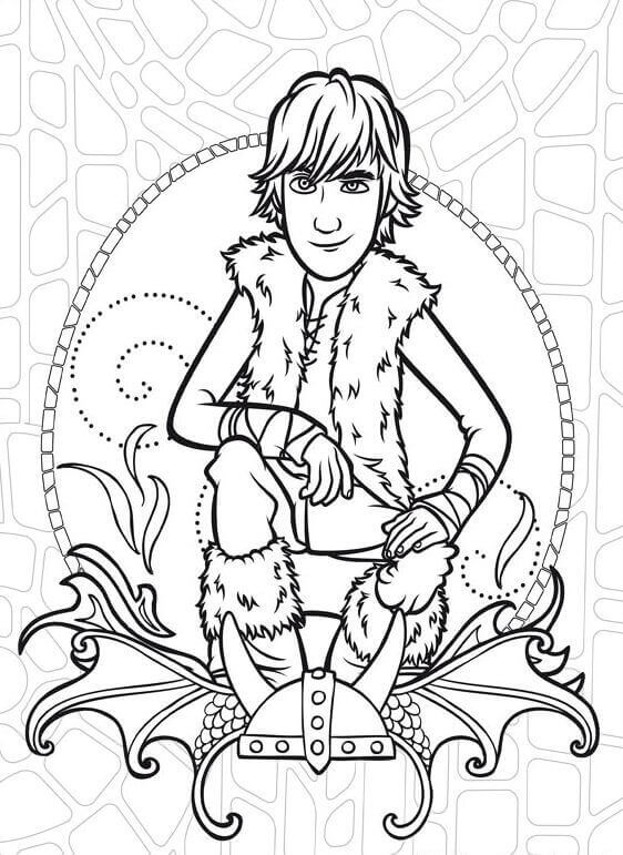 Hiccup coloring pages