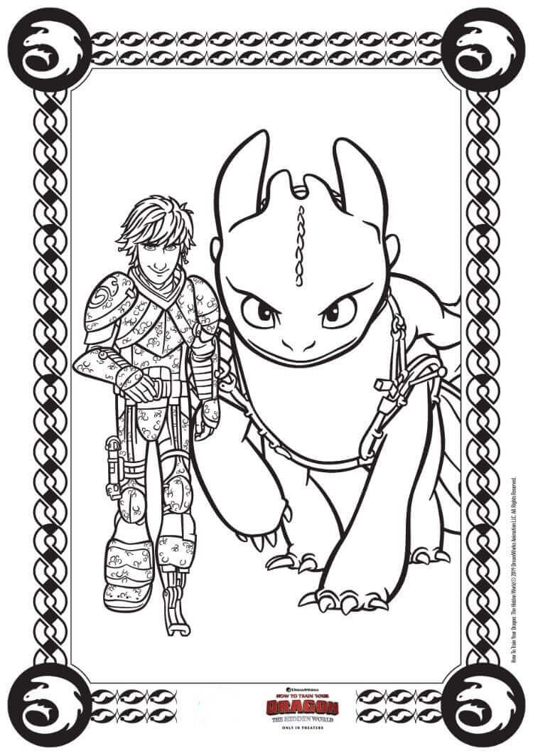 How To Train Your Dragon 3 coloring pages