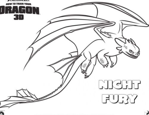 How To Train Your Dragon Night Fury coloring page