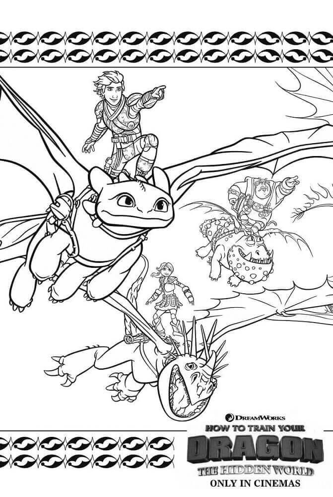 How To Train Your Dragon The Hidden World coloring pages