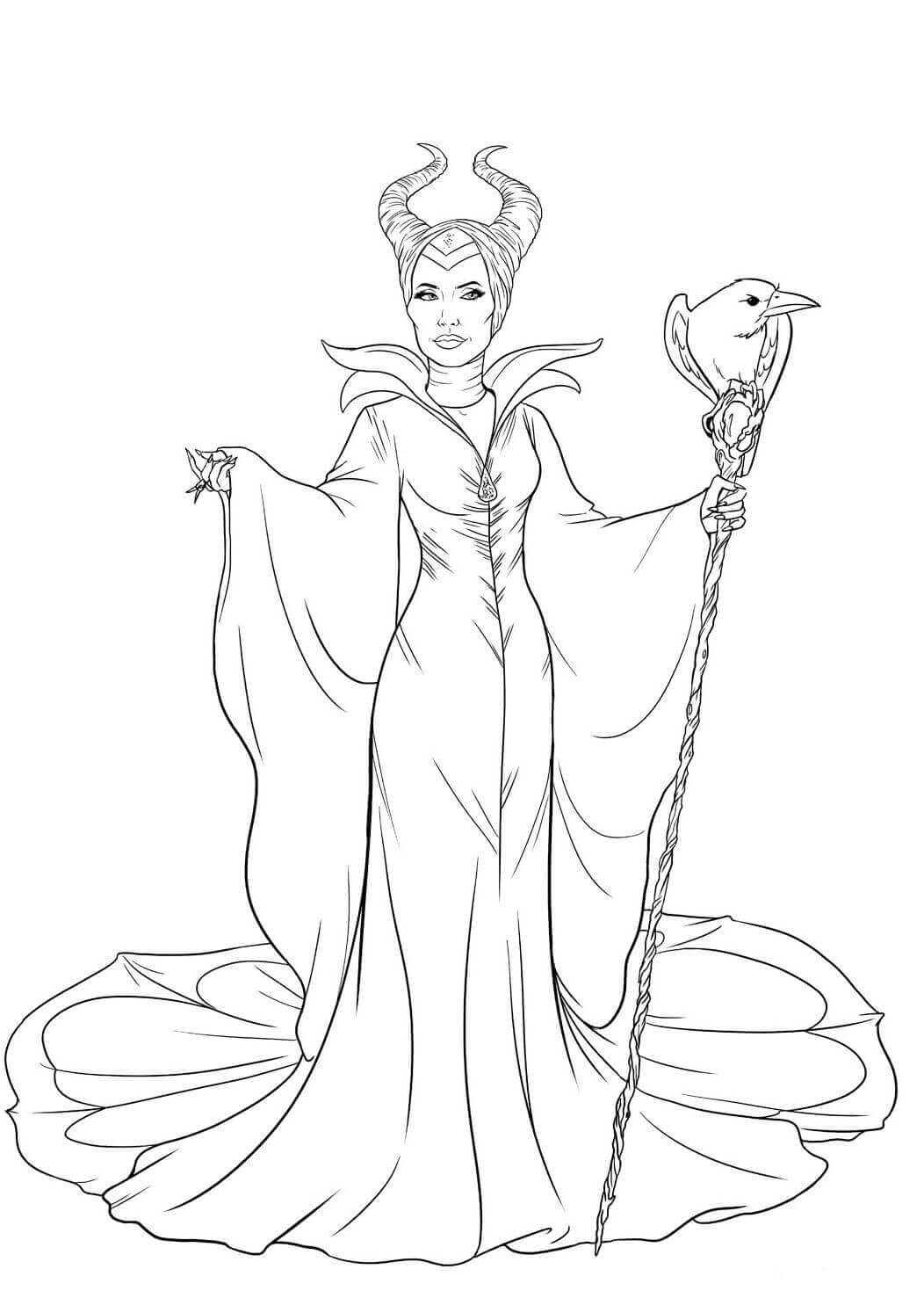 Maleficent coloring page