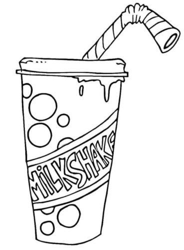 Milkshake Coloring Page