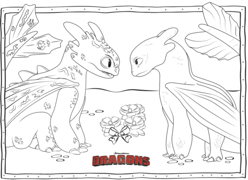 Night Fury and Toothless coloring page