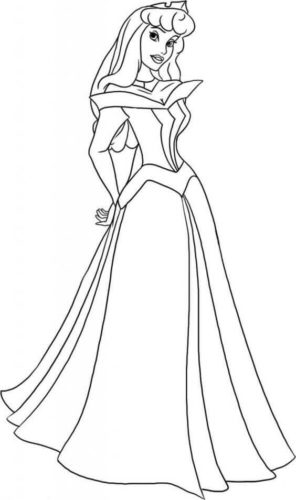 Sleeping Beauty Aurora coloring page